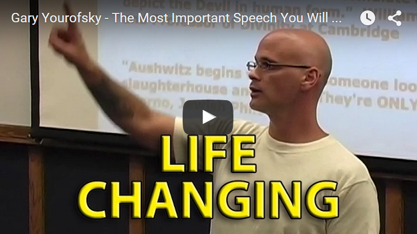 """Gary Yourofsky: """"The Most Important Speech You Will Ever Hear"""""""