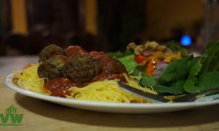 Spaghetti Squash and Meatless Balls: Quick, Easy, and Yummy!