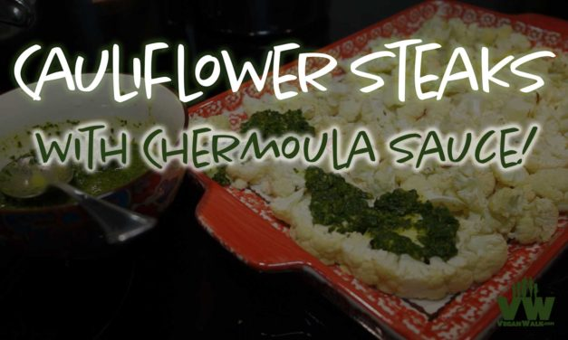 Cauliflower Steaks with Chermoula Sauce